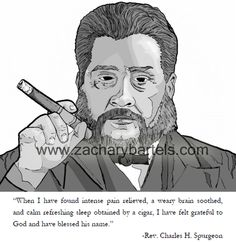 Spurgeon on the benefits of his cigars...