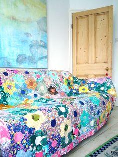 modflowers: vintage patchwork quilt