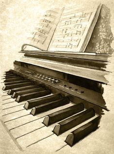 Keyboard - weathered print Piano Art, Piano Music, Music Music, Music Painting, Music Artwork, Musik Illustration, Music Canvas, Music Drawings, Music Backgrounds