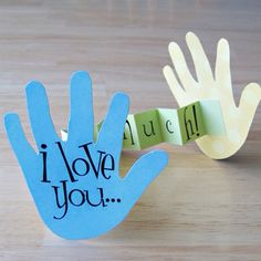 I Love You This Much handprint craft