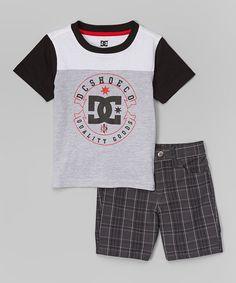 98d407758a Loving this Black   Gray Logo Tee   Plaid Shorts - Infant