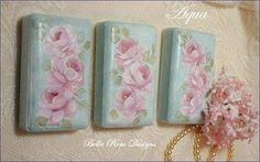 Hand Painted Roses Gift Soaps.
