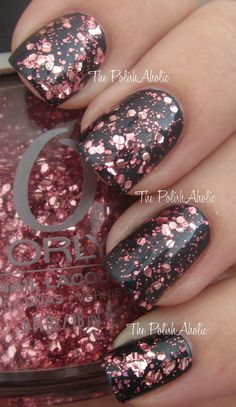 Orly Embrace over black nail polish