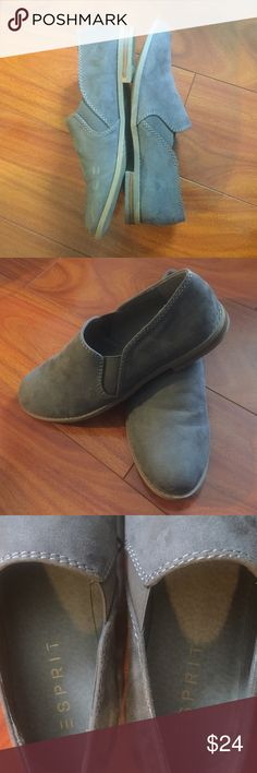 ❕ Esprit Gray Loafers ❕ Esprit gray loafers, size 8.5, good condition with slight scuff on inner left shoe ESPRIT Shoes Flats & Loafers