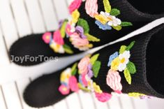 Crochet Boots for the Street Spring Fashion Folk Tribal Boho Boots Made to Order Pavlov Posad Russia
