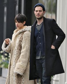 Jamie Dornan and his wife Amelia in London