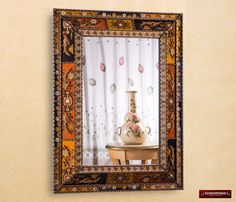 extra large wall mirror decorative u0027golden gardenu0027 ornate bathroom mirrors peruvian hand painted glass art and crafts wall mirror