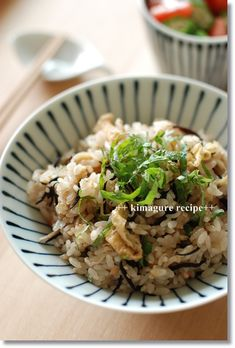 Japanese food / 梅ひじきの炊き込みご飯