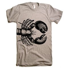 Mens Lobster T Shirt - American Apparel Tshirt - XS S M L XL and XXL (28 Color Options) on Etsy, $19.00