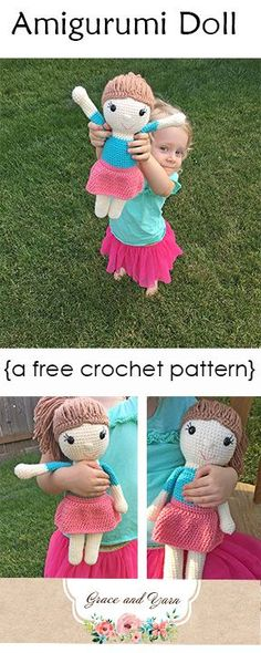 Free and fun amigurumi doll pattern with photo tutorial and step-by-step instructions! This pattern is shared as a CAL but can be made at any time!