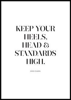 Standards high Poster