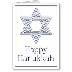 Star of David Happy Hanukkah Greeting Card 22
