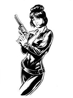 Modesty Blaise | Dave Stokes Sketch Blog