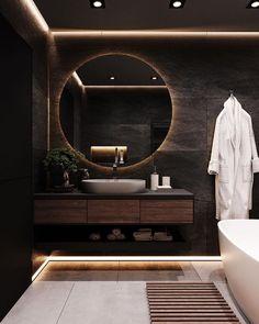 Washroom Design, Bathroom Design Luxury, Modern Bathroom Design, Modern House Design, Modern Luxury Bathroom, Toilet Design, Luxury Bathrooms, Home Room Design, Dream Home Design