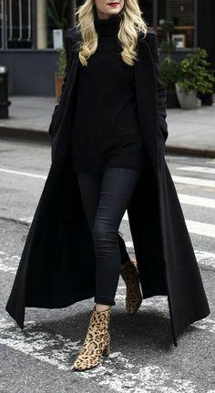 All black + leo booties.