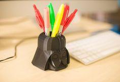 Darth Vader Pen Holder, 3D printed fanart,Darth Vader Pot! Star Wars, Pencil Holder,  Flower planter, Garden, Darth Vader planter