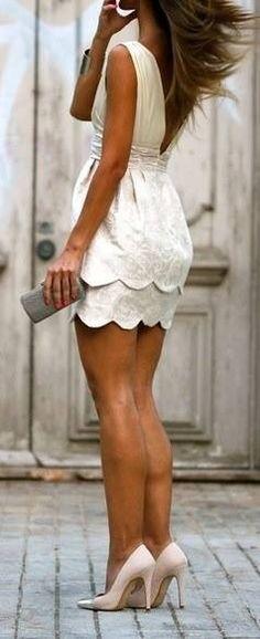 White short summer dress