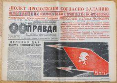 1962 Soviet Russia Russian Space Program Vostok -3 , 4 SPACECRAFTS Newspaper.
