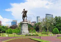 George Washington statue at the Boston Common
