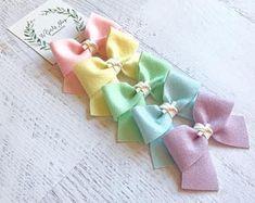 Pastel Bows | Felt Bows | Spring Bows | Easter Bows | Baby Bows | Baby Headbands | Toddler Bows | Toddler Headbands | Toddler Hair Clips