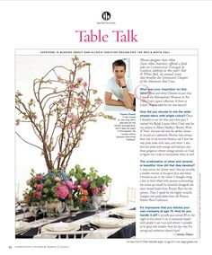 June issue of Connecticut Cottages & Gardens featuring my table for The Red Cross Annual Red & White Ball!