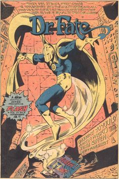 Doctor Fate by Keith Giffen and Larry Mahlstedt. Dc Doctor, Comic Art, Comic Books, Suspended Animation, Justice League Dark, Christopher Reeve, Magic Book, Golden Age, A Good Man