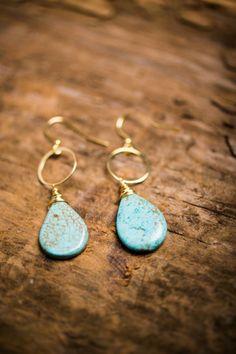Turquoise Princess Earrings.