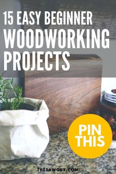 Check out these easy woodworking projects you can build! They don't compulsion a resolution ... Here's a good gift idea that will appeal raves. The joints are expertly ... #DIYWood Woodworking For Kids, Beginner Woodworking Projects, Woodworking Books, Popular Woodworking, Teds Woodworking, Woodworking Equipment, Woodworking Techniques, Woodworking Apron, Youtube Woodworking