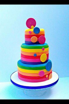 Rainbow inspired cake