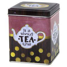 T.B.ALW692 Fémdoboz 75x75x95mm, 100g, Always Esschert Design, Character Inspiration, Hamilton, Boxes, Tea, Canning, Creative, Decor, Crates
