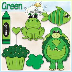 Learn The Color Green 1 - NE Early Learning Trina Clark Clip Art : Digi Web Studio, Clip Art, Printable Crafts & Digital Scrapbooking!