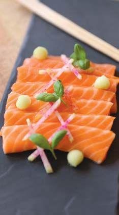 Salmon Sashimi - Recipe Courtesy of Jack Dusty Photo by Kathryn Brass (http://www.kathrynbrassphotography.com)