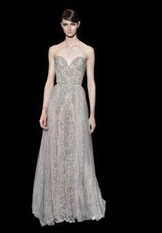 Coleccion Plata - Vestidos de Fiesta de Elie Saab  inspirados en las joyas de la corona