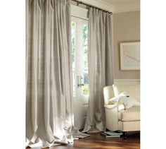 Silk Curtains On Pinterest Grommet Curtains Drapes
