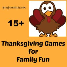 Phyllis's discussion on Hometalk. 15+ Thanksgiving Game Ideas for Family Fun - Get off the couch and make fun memories with these family game ideas! Fun and easy to do!
