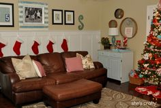 She's crafty: Christmas Home Tour 2012