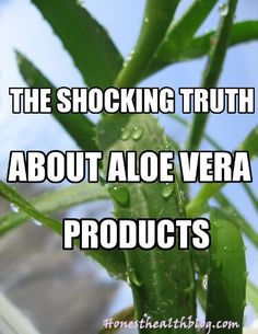 Make sure that whatever product you're buying, there is a significant percentage of Aloe Vera in there. Find out how advertisers use sneaky advertising.