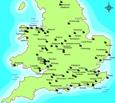 Map of Castles in England. I will need a couple of weeks when I go to Europe.