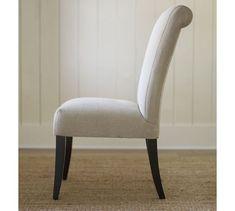 PB Comfort Roll Upholstered Chair #potterybarn
