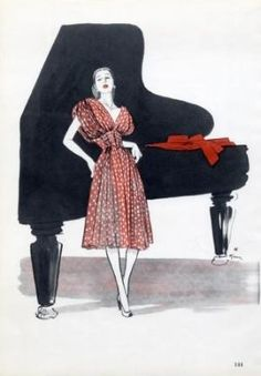 Mad Carpentier 1946 René Gruau, Fashion Illustration