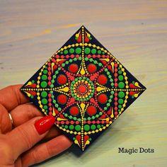 "Mandala on Canvas Energy Mandala Sacred Geometry Dotting Spiritual Dot Art Mandala dots painting inches ""Medallion Good Luck"" Mandala Canvas, Mandala Artwork, Mandala Dots, Mandala Painting, Mandala Design, Mandala Stencils, Flower Mandala, Mandala Art Lesson, Mandala Drawing"