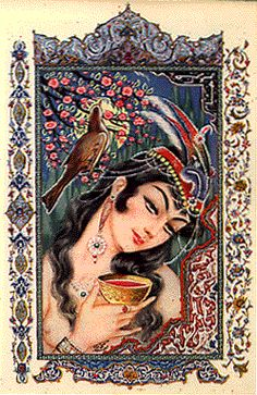 Persian illustrations for  The Rubaiyat of Omar Khayyam