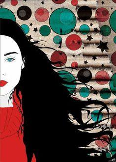 """Arrogance"", Digital Illustration by Aphrodite Ioannou Music Illustration, Graphic Design Illustration, Art Illustrations, Beautiful Drawings, Cool Drawings, 2d Art, Portrait Art, Female Art, Amazing Art"