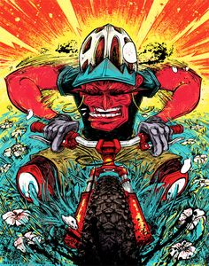 Cover Illustration for Dirt Rag Magazine Issue #170 by Kyle Stecker, via Behance