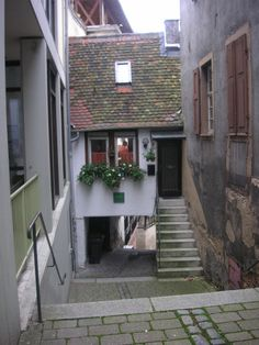 historic little street, Weinheim on  Bergstraße,  Germany
