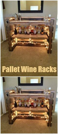 Here we are bringing you the latest pallet ideas for home decor that will make your home delicate and full of glamor in appearance.Pallet Wine Racks