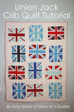 Diary of a Quilter - a quilt blog: Union Jack quilt and bag tutorials