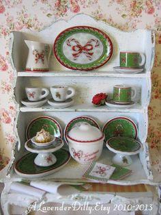 Vintage Cherry Cake Jar/Crock for Dollhouse by alavenderdilly
