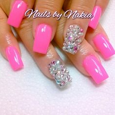 #swarovskicrystals #pearls #glamnails APPOINTMENTS ONLY!  TEXT 7864860527!!!!! #Padgram