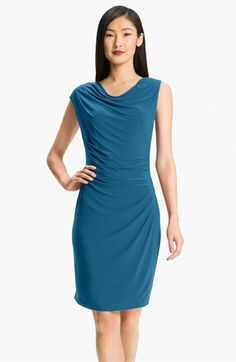 Adrianna Papell Asymmetrical Draped Jersey Dress available at #Nordstrom